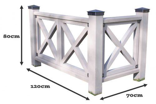 Yardistry 2+1 Fence Dimensions